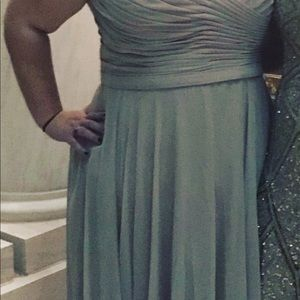 Tan/nude David's bridal bridesmaid dress